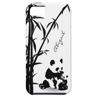 Personalized Panda Bears and Bamboo iPhone 5 Case