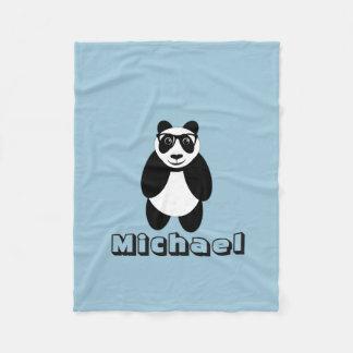 Personalized Panda Fleece Blanket