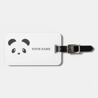 Personalized panda luggage tag
