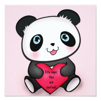 Personalized Panda Party Invitations Invites Girl