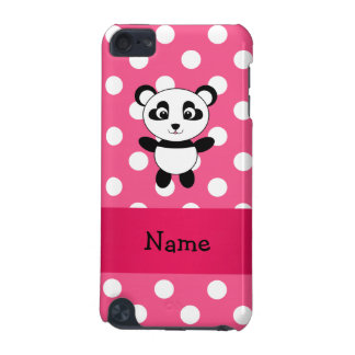 Personalized panda pink white polka dots iPod touch (5th generation) case