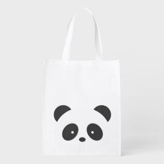 Personalized panda reusable bag