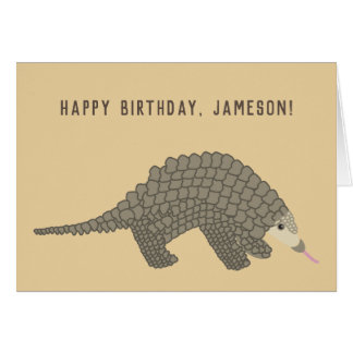 Personalized Pangolin Birthday Card