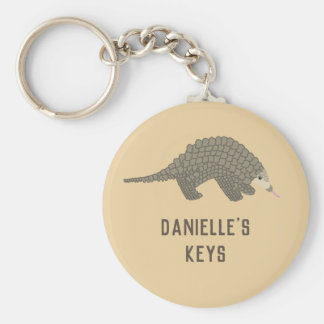 Personalized Pangolin Keychain