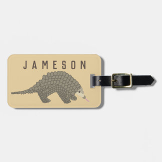 Personalized Pangolin Luggage Tag