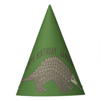 Personalized Pangolins Party Hats