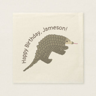 Personalized Pangolins Party Invitations Paper Napkin