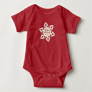 Personalized Paper Cut Out Holidays Snow Flake Baby Bodysuit