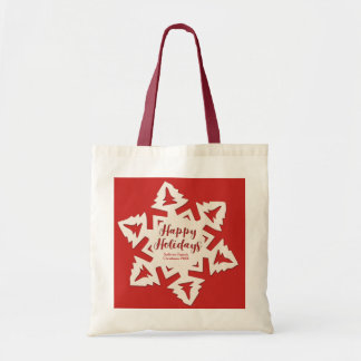 Personalized Paper Cut Out Holidays Snow Flake Tote Bag