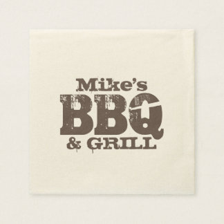 Personalized paper napkins for BBQ party