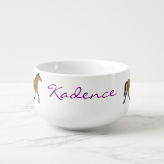 Personalized Parade of Pretty Ponies Soup Mug