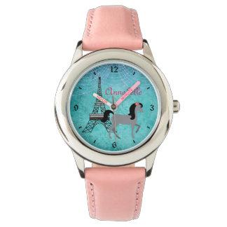 Personalized Paris Pony Oh La La Grey Horse Watch