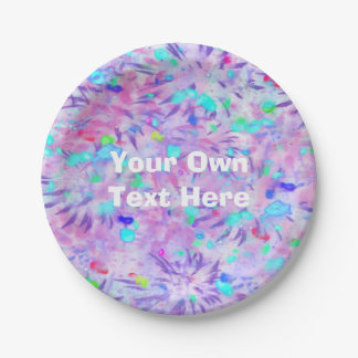 Personalized party plate 7 inch paper plate
