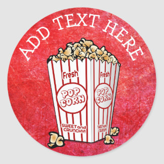 PERSONALIZED Party Popcorn Stickers
