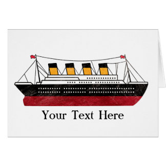 Personalized Passenger Steamship Greeting Card