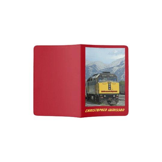 Personalized Passport Holder Retirement Railroad