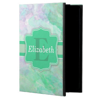 Personalized Pastel Watercolors Name and Monogram Powis iPad Air 2 Case