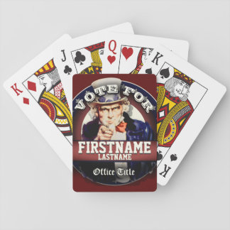 Personalized Patriotic Uncle Sam Playing Cards