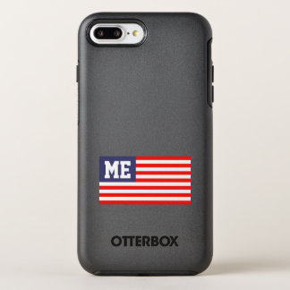Personalized patriotic US American flag monogram OtterBox Symmetry iPhone 8 Plus/7 Plus Case