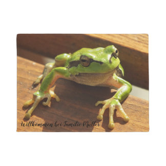 Personalized, pattern, frog, reptile, nature, doormat