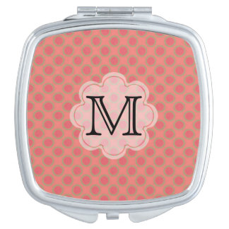 Personalized Pattern Monogram Compact Mirror