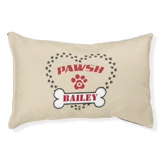 Personalized Pawsh Posh Small Dog Bed