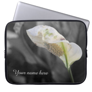 Personalized Peace Lily - Selective Color Laptop Sleeve