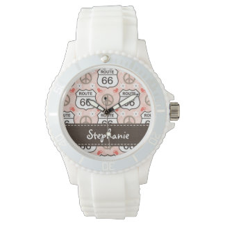 Personalized Peace Love Road Trip Wristwatches