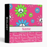 Personalized Peace Sign School Binder - Sm