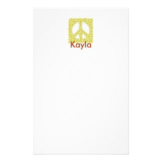 Personalized Peace Sign Stationery