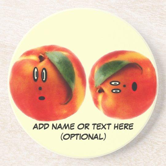 Personalized Peaches Cartoon Coaster