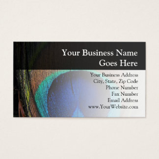 Personalized Peacock Feather Business Card