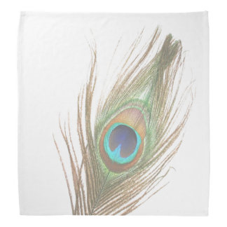 Personalized Peacock Feather Choose Background Bandanas