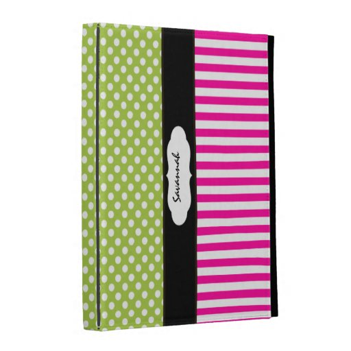 Personalized PeaPod Lime and Pink iPad Case