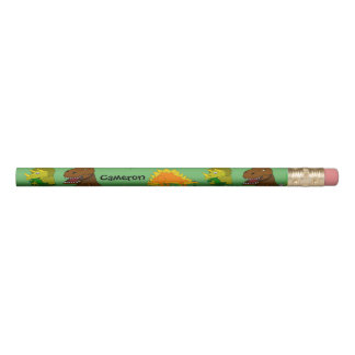 Personalized Pencil for Kids Dinosaurs in Jungle