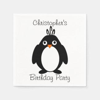 Personalized Penguin Design Paper Napkins