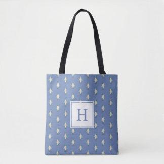 Personalized Penguin Monogram Tote Bag