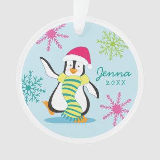 Personalized Penguin Photo Ornament
