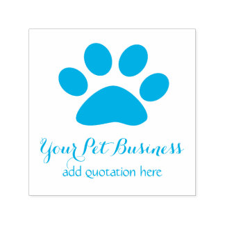 personalized pet business paw self-inking stamp