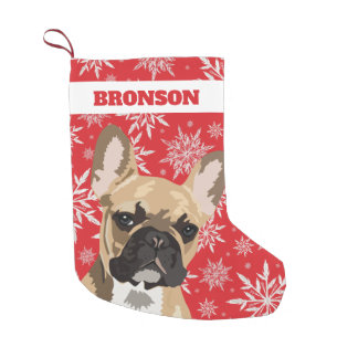 Personalized Pet Dog | French Bulldog Gift Small Christmas Stocking
