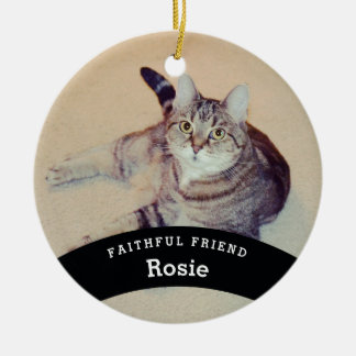 Personalized Pet Friend Add Name and Photo Ceramic Ornament