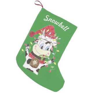 Personalized pet green Christmas stocking Small Christmas Stocking
