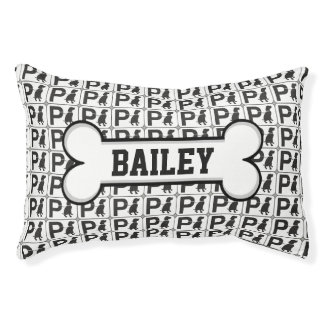 Personalized Pet Name Puppy Park Small Dog Bed