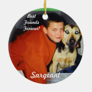 Personalized Pet Ornaments-Remembrance Round Ceramic Ornament