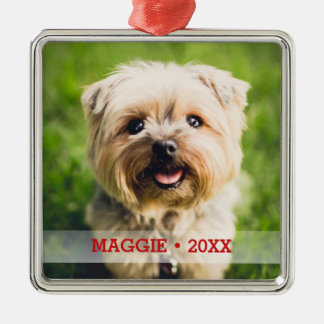 Personalized Pet Photo Cute Special Christmas Tree Metal Ornament