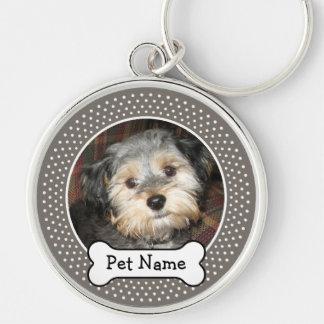 Personalized Pet Photo with Dog Bone Keychains