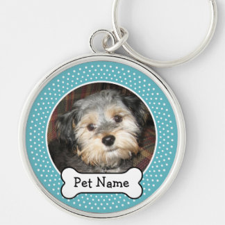 Personalized Pet Photo with Dog Bone Keychain