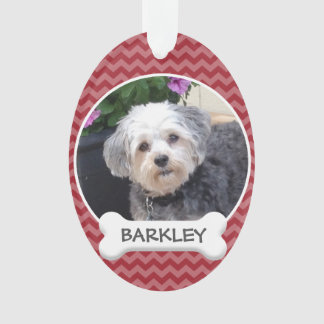 Personalized Pet Photo with Dog Bone Ornament