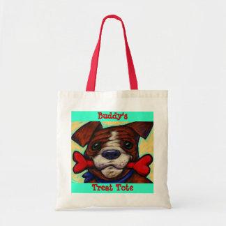 Personalized Pet s Name Dog Treat Bones Tote Bag