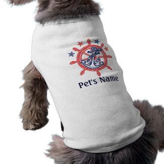 Personalized Pet's Name Nautical decor Pet Tshirt